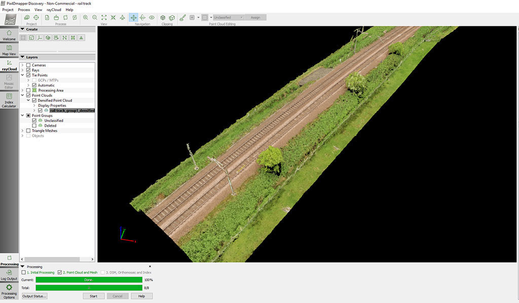 UAV Topographic Survey Rail