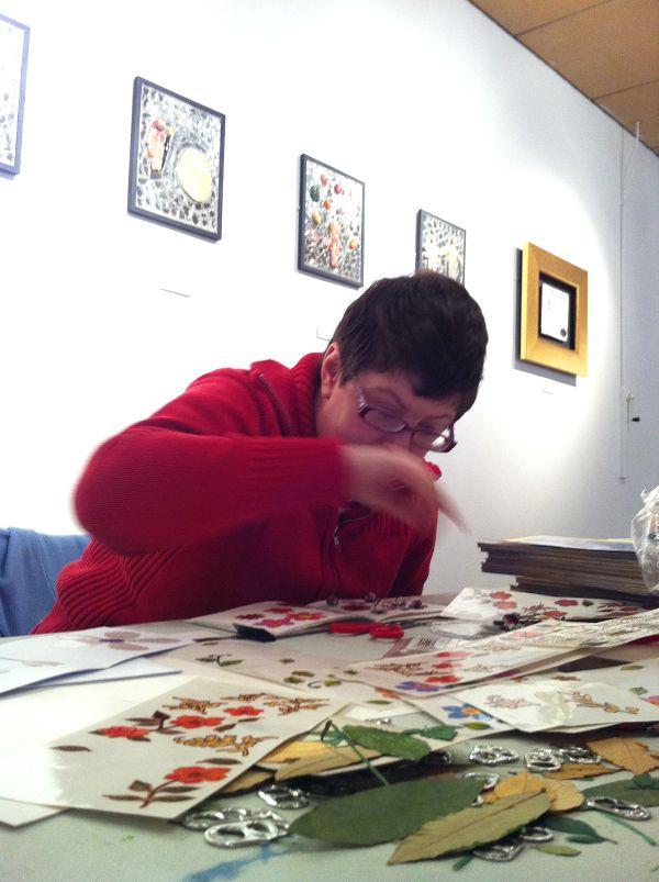 Book making project at Henshaws Arts & Crafts Centre