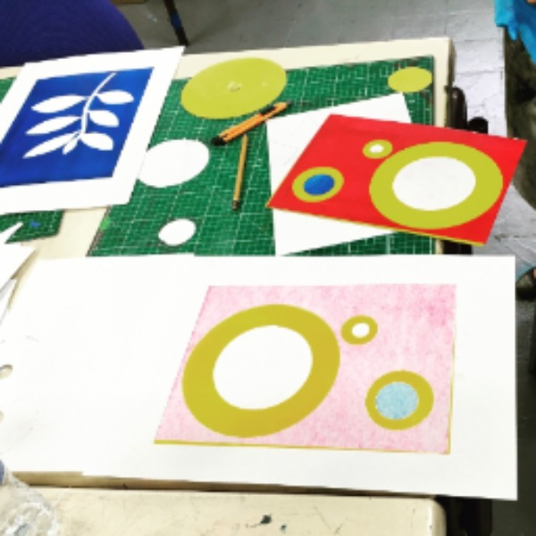 Monoprinting sessions