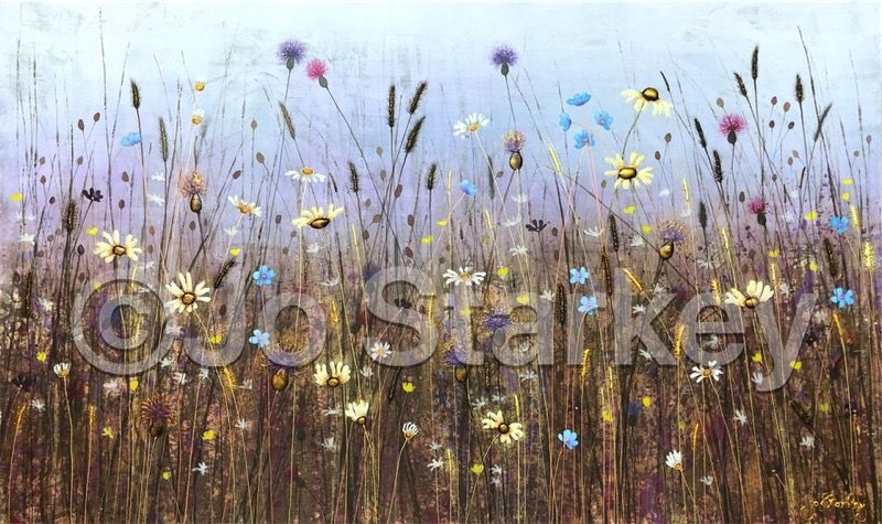 'Wild Meadow Landscape by Jo Starkey'