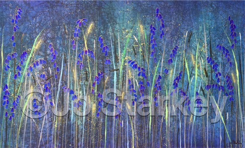 Bluebell Painting by Jo Starkey