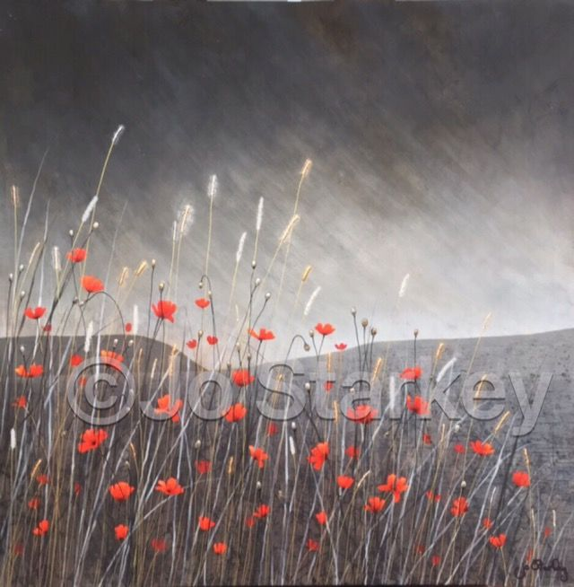 'Poppy Landscape by Jo Starkey'