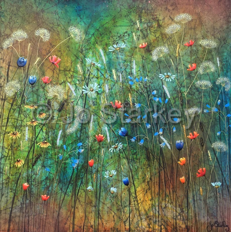 'Jo Starkey Contemporary Floral Painting'