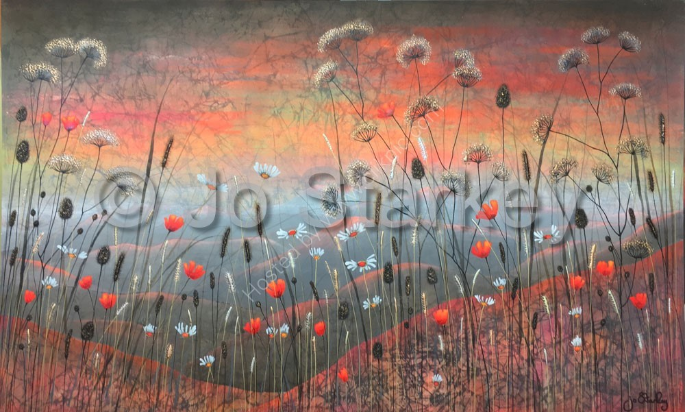 'Rolling Hills Landscape Painting by Jo Starkey'