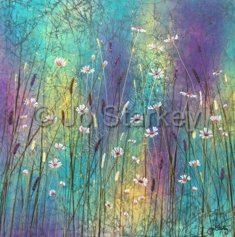 'Wild Daisies with Texture by Jo Starkey'