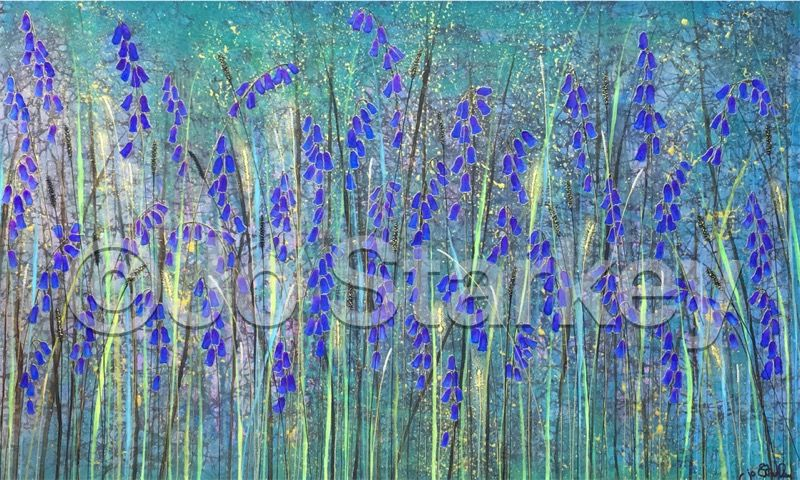 'Bluebell painting by Jo Starkey'