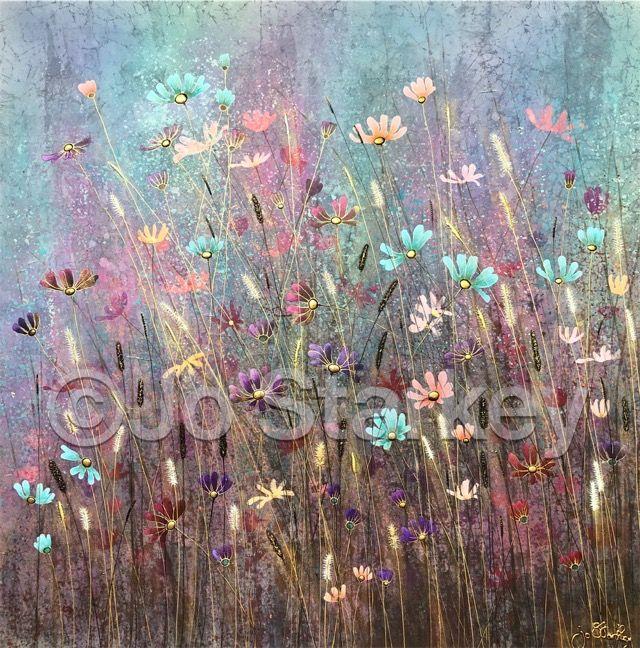 'Meadow Painting by Jo Starkey'