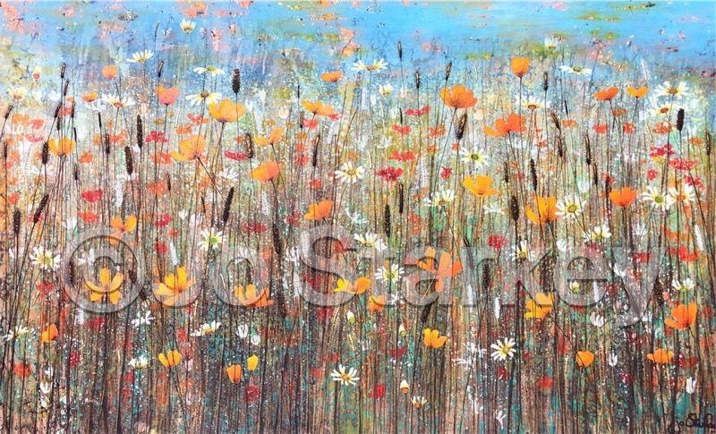 'Poppy Field Landscape by Jo Starkey'