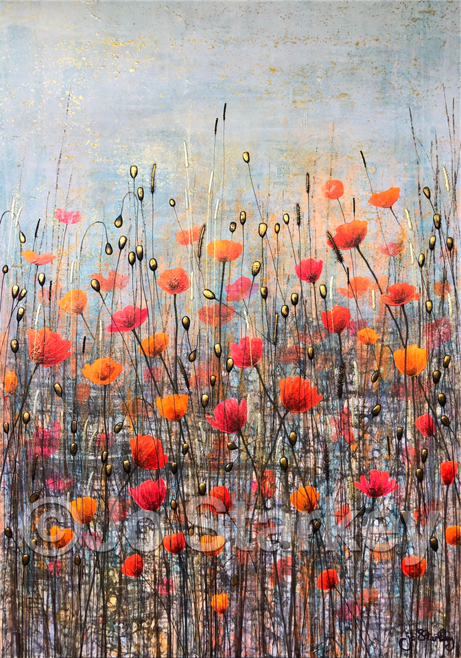 'Red and Yellow Poppies' by Jo Starkey
