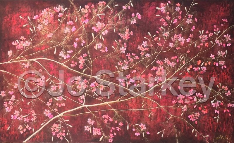 Cherry blossom painting by Jo Starkey