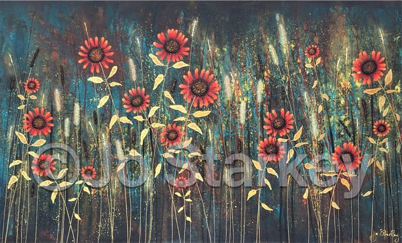 Sunflower Painting by Jo Starkey