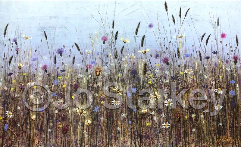 'Wild Meadow Painting by Jo Starkey'