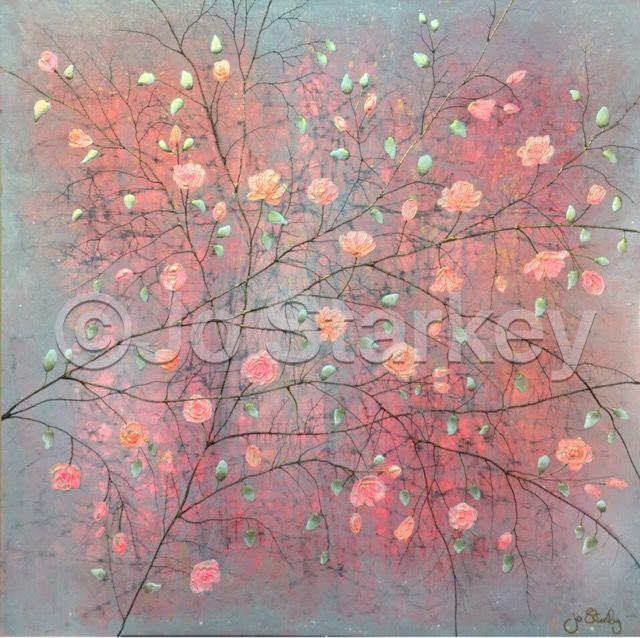 'Contemporary Rose Painting by Jo Starkey'