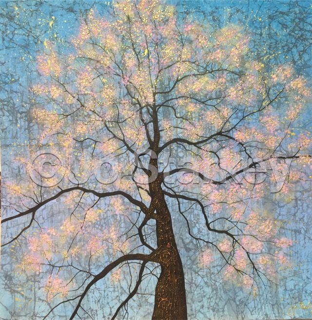Blossom Tree Painting by Jo Starkey