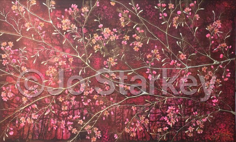 'Cherry blossom painting by Jo Starkey'