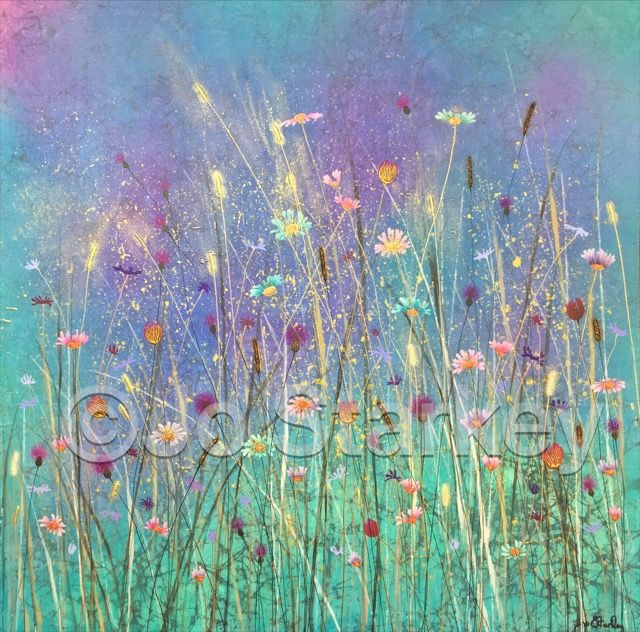 Contemporary Meadow Painting by Jo Starkey