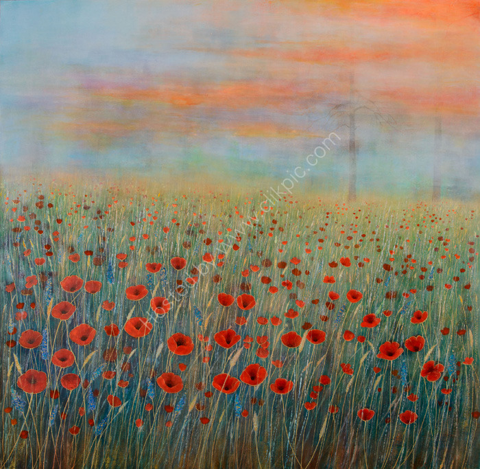 'Amidst the Poppies'