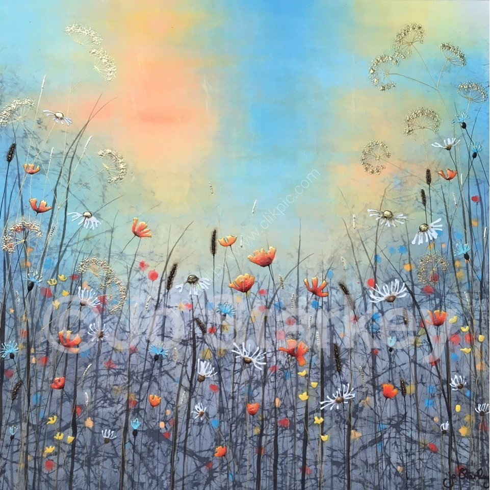 'Floral Landscape by Jo Starkey'