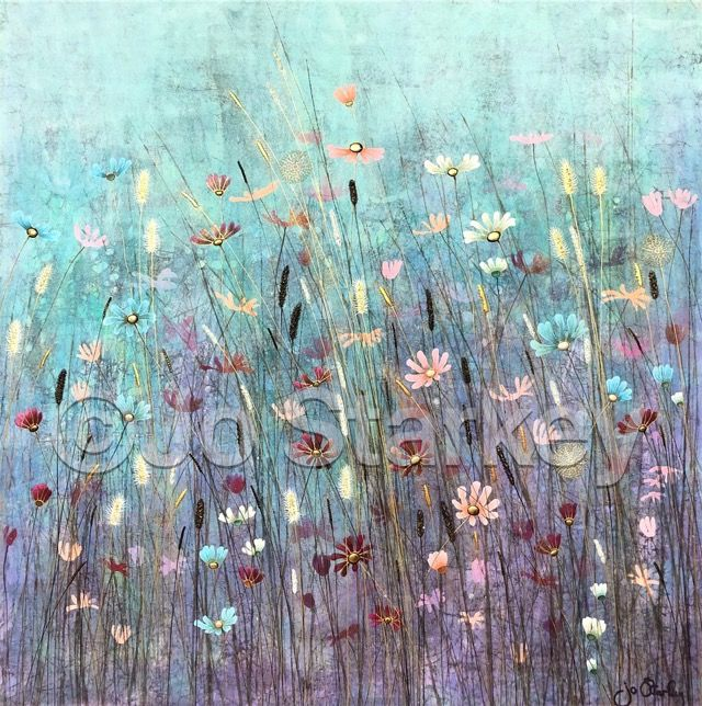 'Textured Meadow Painting by Jo Starkey'