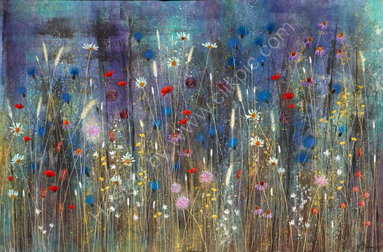 Contemporary Landscape Meadow Painting