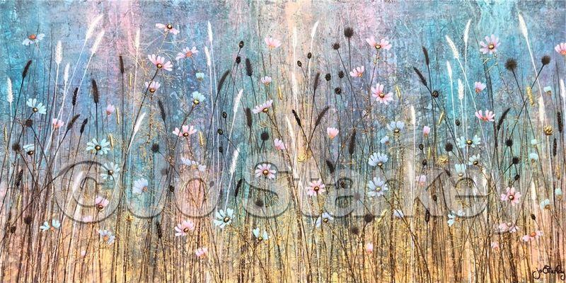 'Cosmos Flowers by Jo Starkey'