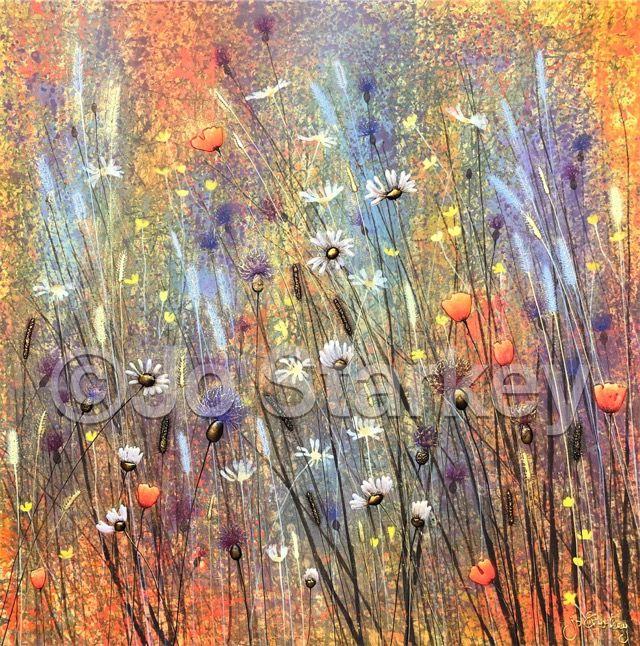 'Summer Flower Painting by Jo Starkey'