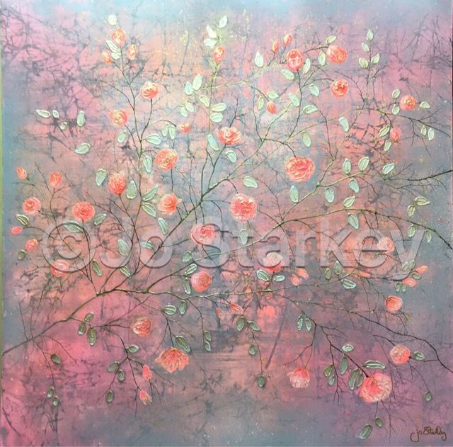 'Contemporary Rose Painting by Jo Starkey'