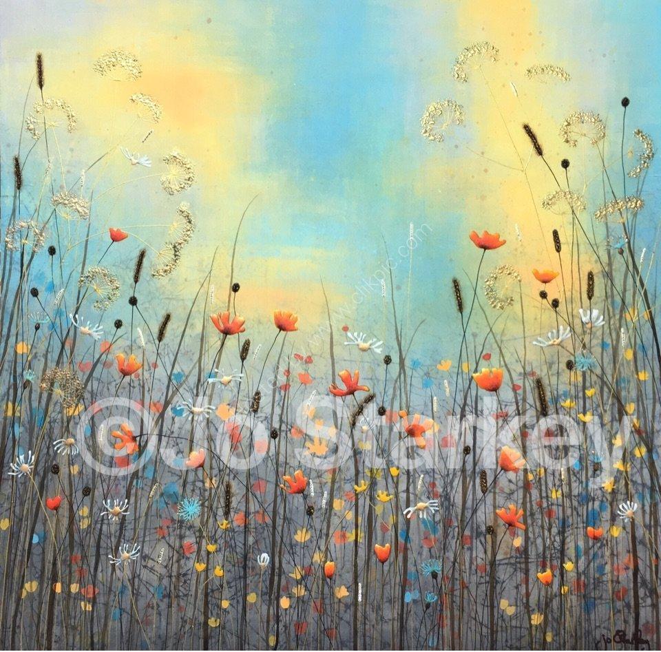 'Wild Flowers with Big Sky'