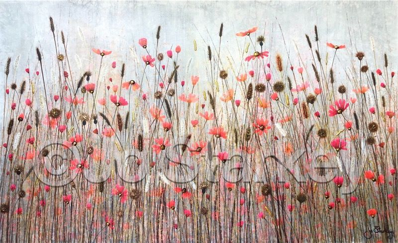 'Pink and Red Meadow by Jo Starkey'
