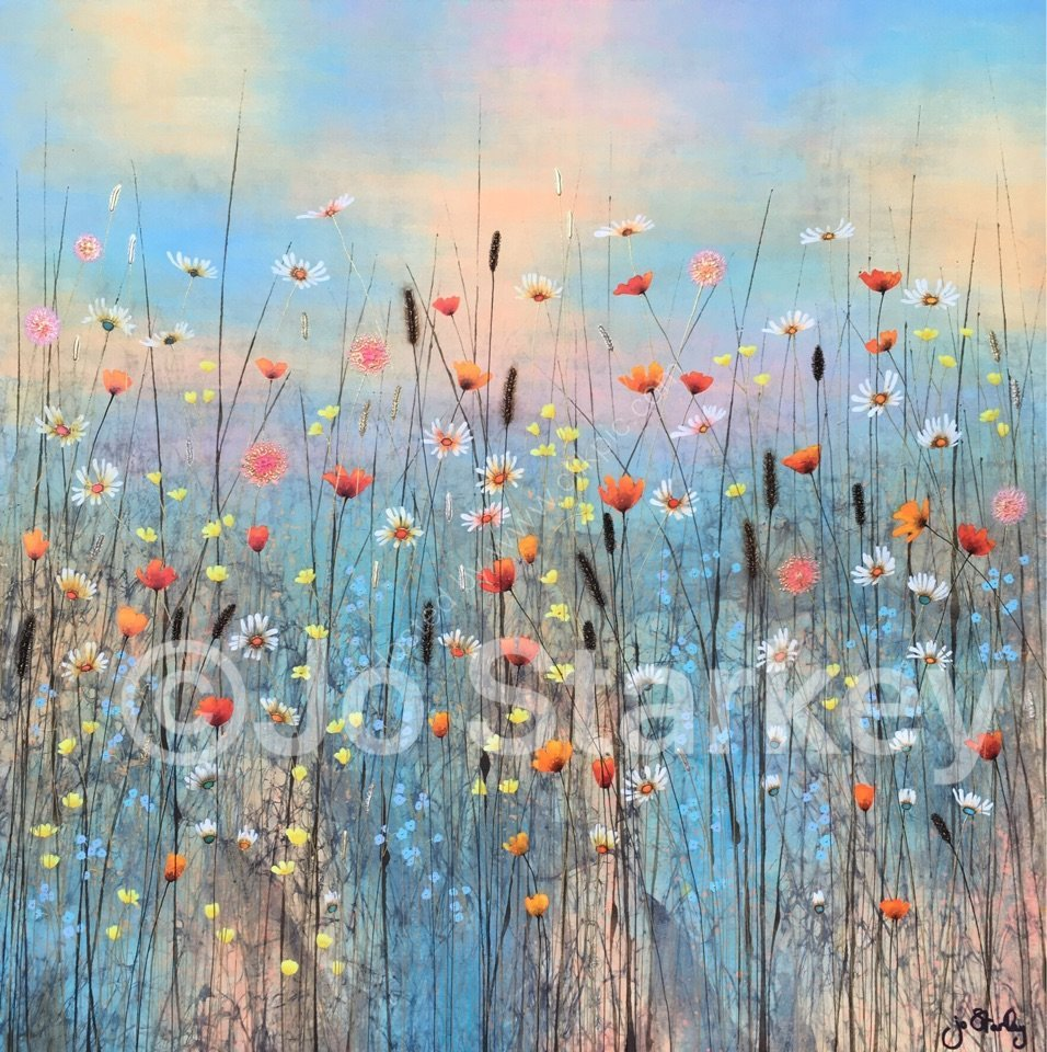 'Summer Floral Landscape by Jo Starkey'