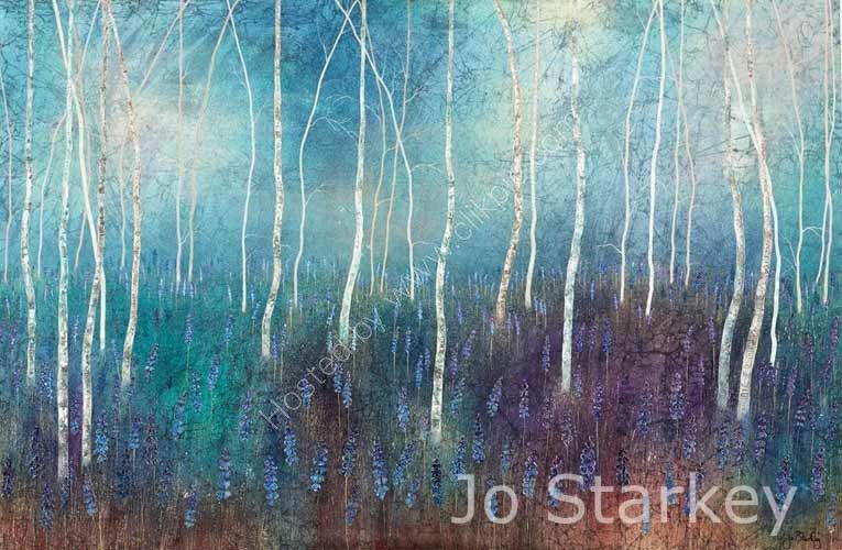 'Forest Painting by Jo Starkey'
