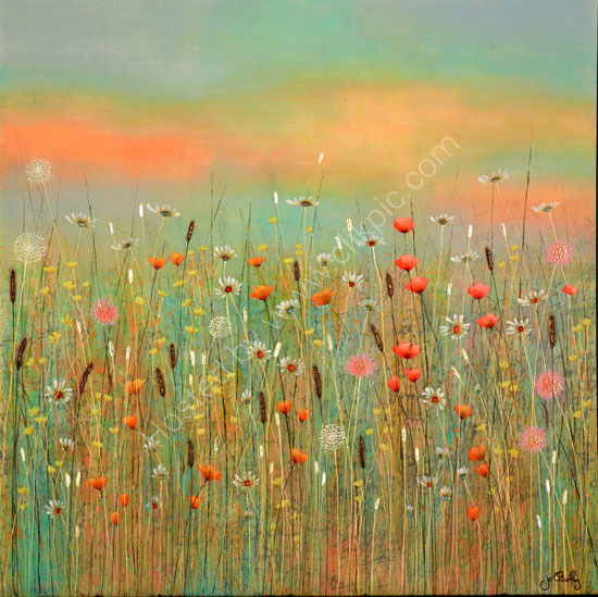 Summer Meadow Painting by Jo Starkey