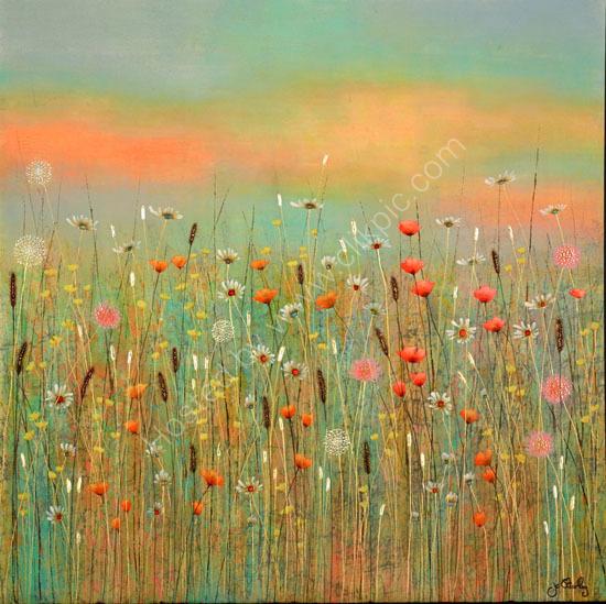 'Summer Meadow Painting by Jo Starkey'