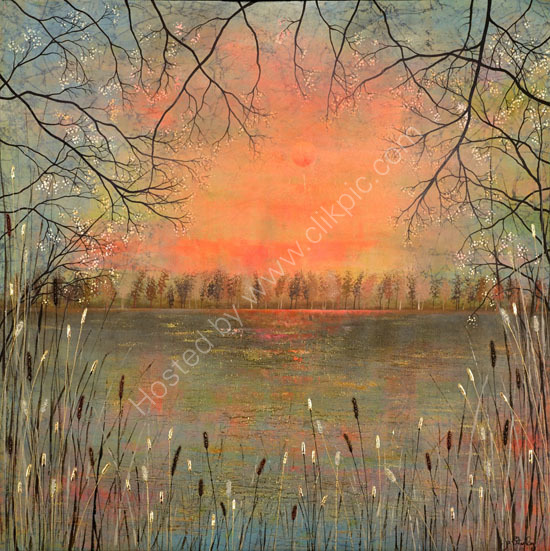 'Lake Landscape by Jo Starkey'