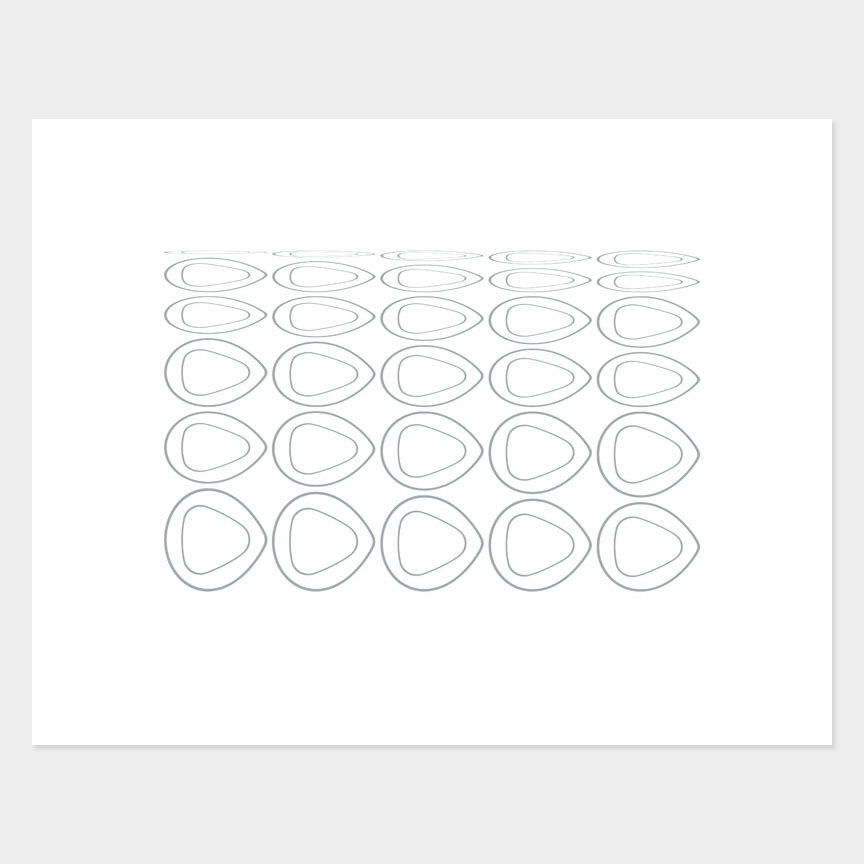Oval Curves (11) Archival Pigment Print, Paper Size 37 x 29cm