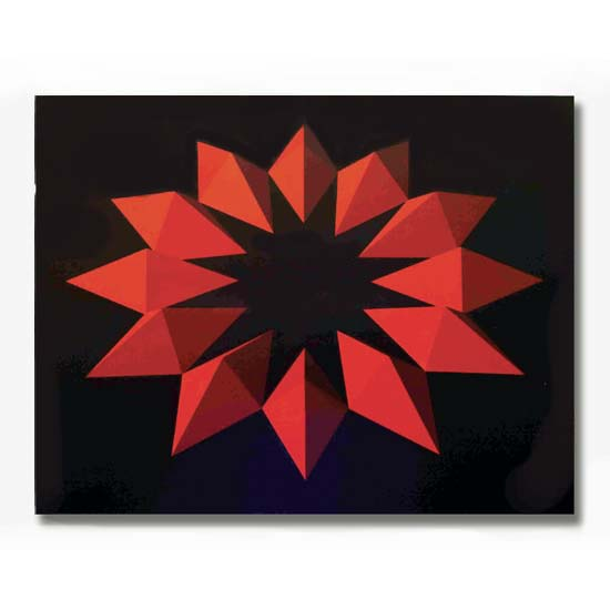 12 Red Forms, Acrylic on Canvas, 92 x 71cm