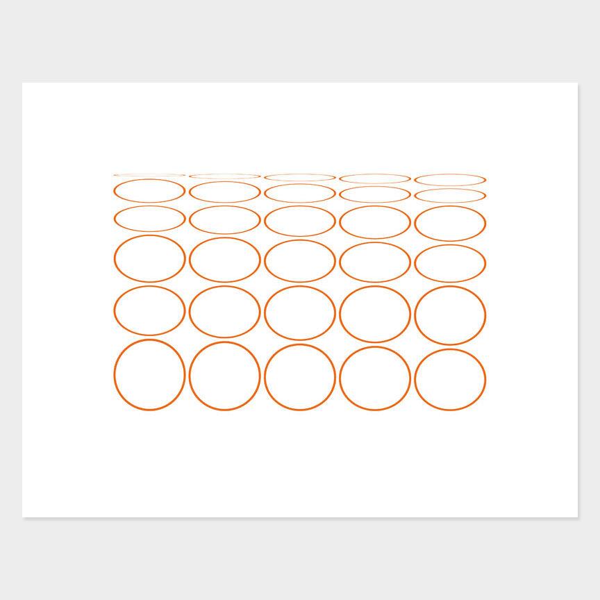 Oval Curves (13) Archival Pigment Print, Paper Size 37 x 29cm
