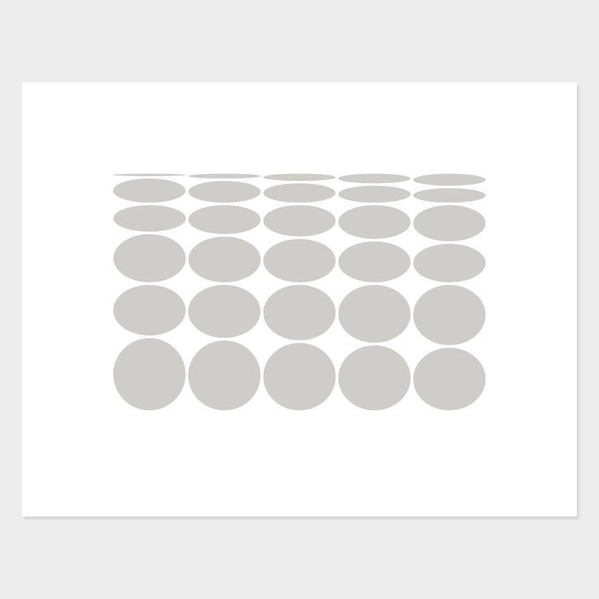 Oval Curves (14) Archival Pigment Print, Paper Size 37 x 29cm