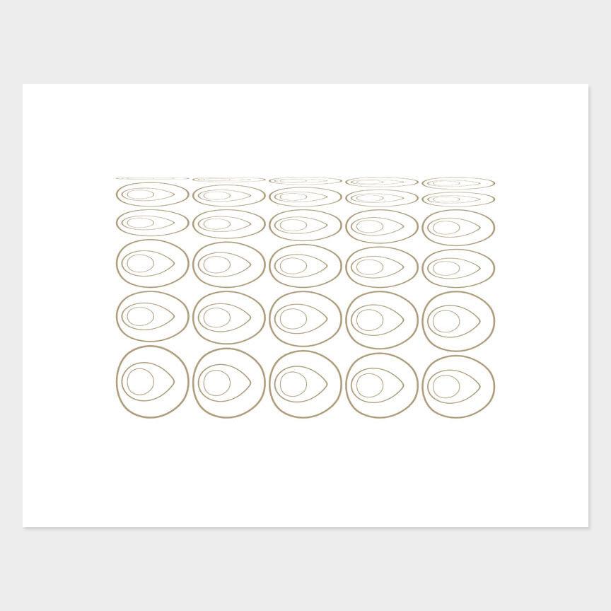 Oval Curves (16) Archival Pigment Print, Paper Size 37 x 29cm