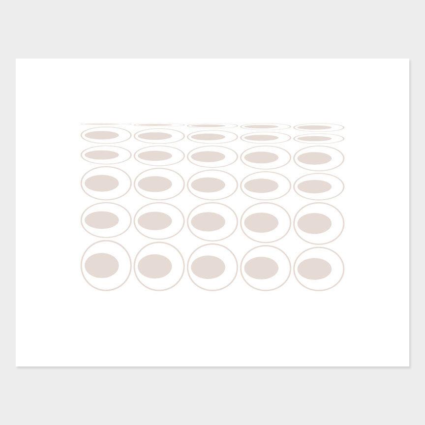 Oval Curves (19) Archival Pigment Print, Paper Size 37 x 29cm
