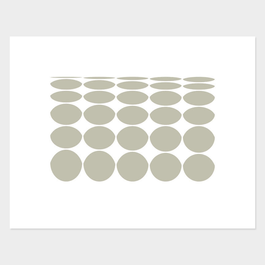 Oval Curves (1) Archival Pigment Print, Paper Size 37 x 29cm