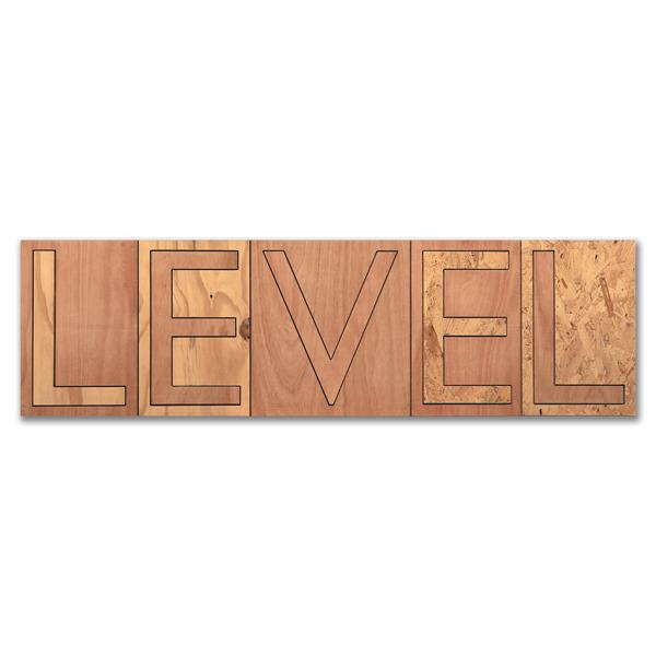 Level, Plywood, 40 x 140cm