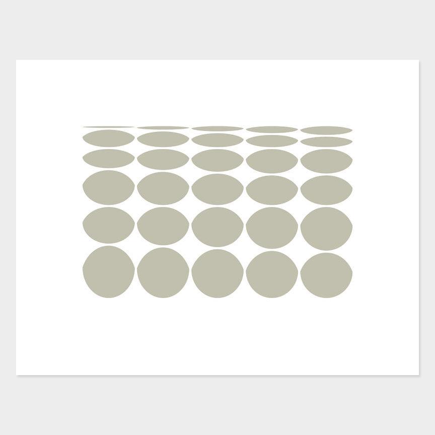 Oval Curves (21) Archival Pigment Print, Paper Size 37 x 29cm