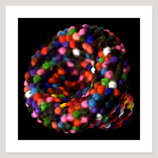 Channel (Coloured Beads), Archival Pigment Print, 76 x 76cm