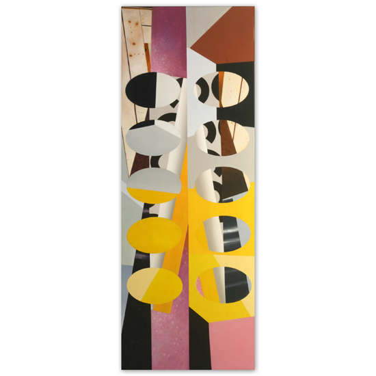 Redivider (Frieze 4) 56 x 152cm Acrylic /Oil/Canvas