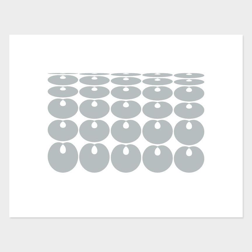Oval Curves (5) Archival Pigment Print, Paper Size 37 x 29cm