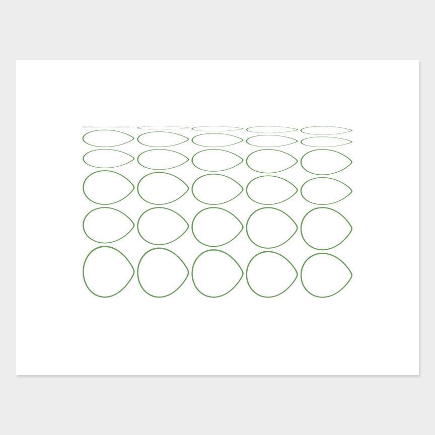 Oval Curves (6) Archival Pigment Print, Paper Size 37 x 29cm