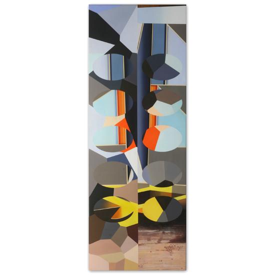Redivider (Frieze 3) 56 x 152cm Acrylic /Oil/Canvas