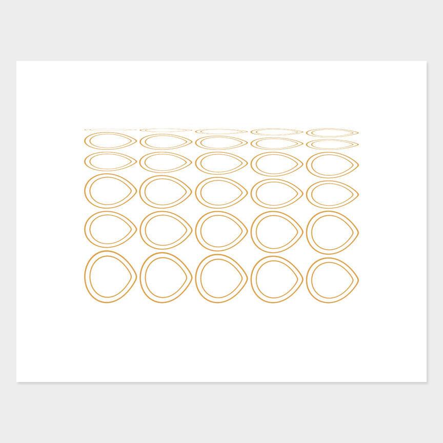 Oval Curves (7) Archival Pigment Print, Paper Size 37 x 29cm