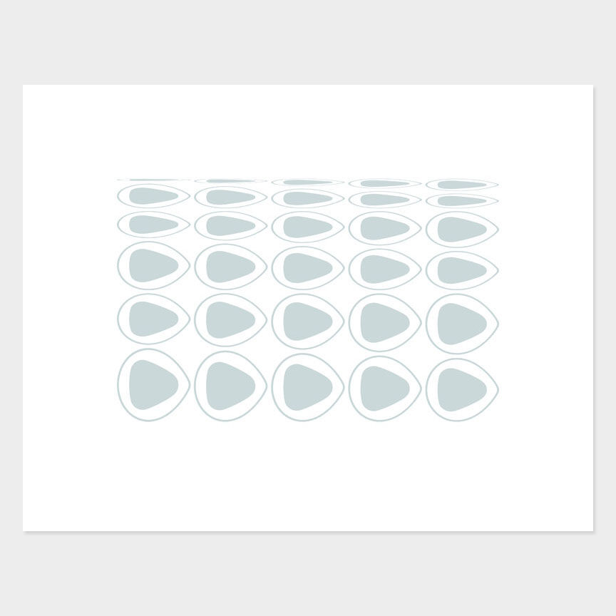Oval Curves (9) Archival Pigment Print, Paper Size 37 x 29cm